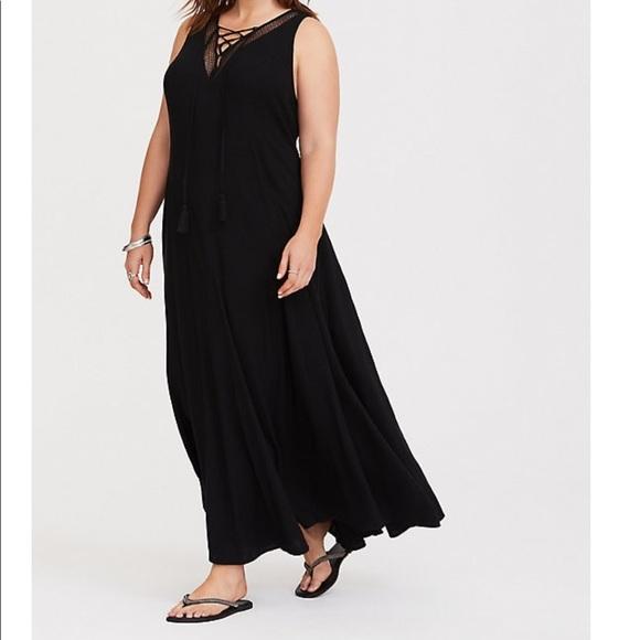 1d48fed7bf1 torrid Dresses | Nwt Size 2 Lace Up Trapeze Maxi Dress | Poshmark